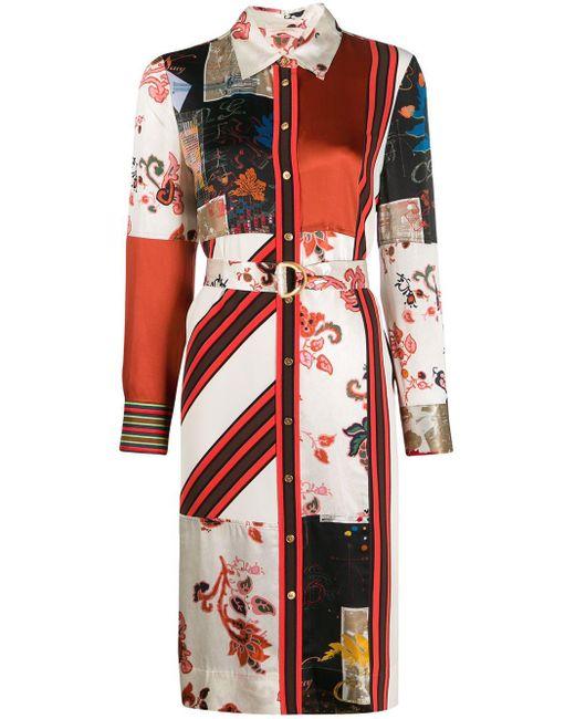 Tory Burch パッチワーク シャツドレス Multicolor
