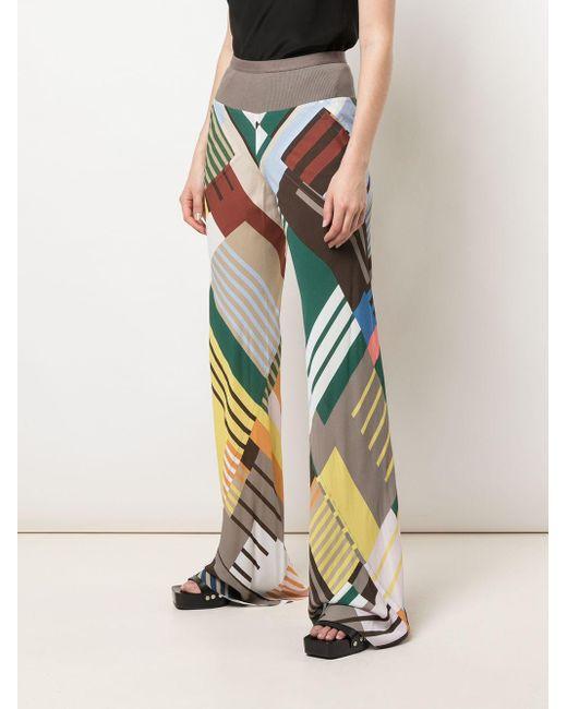 Rick Owens カラーブロック ワイドパンツ Multicolor
