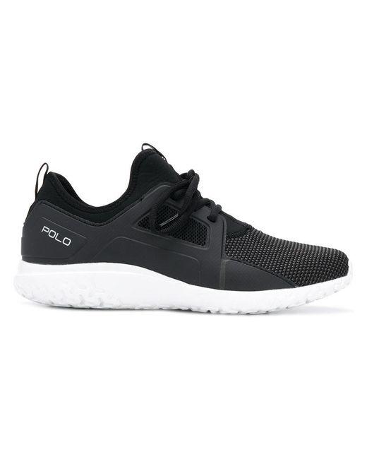 91342f58f0730a Polo Ralph Lauren - Black Runner Sneakers for Men - Lyst ...
