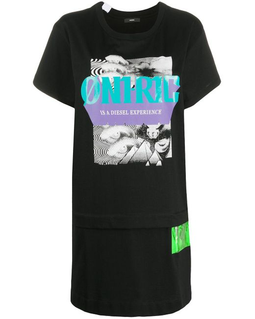 DIESEL Oni-ric ロングラインtシャツ Black
