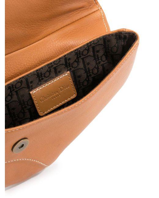 Dior Brown Pre-owned Saddle Belt Bag