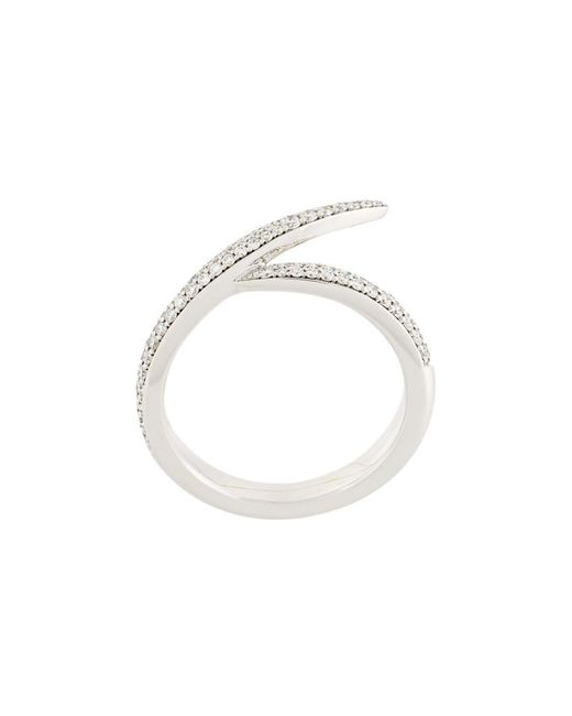Shaun Leane - Metallic 'signature Diamond' Interlocking Ring - Lyst