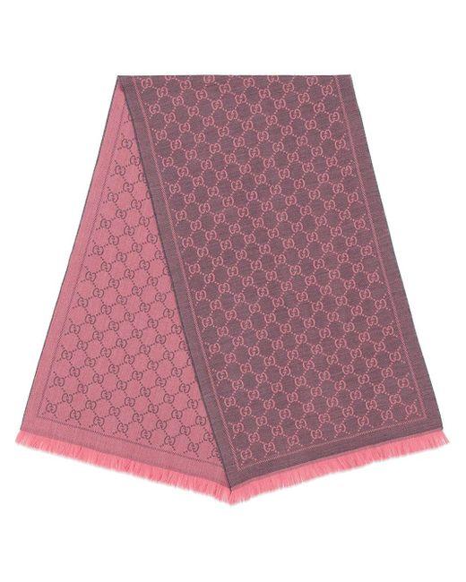 Gucci モノグラムスカーフ Purple