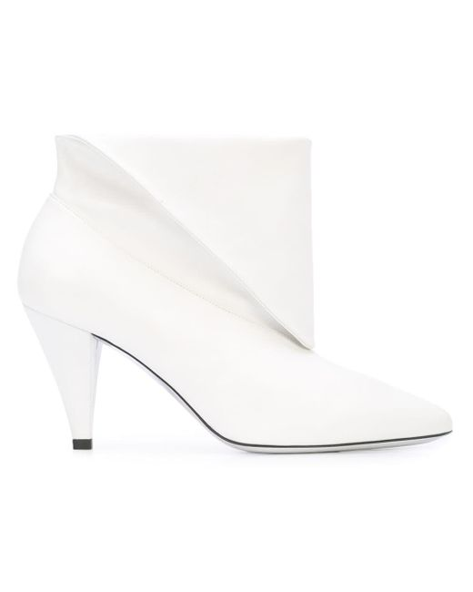 Givenchy フォールドオーバー アンクルブーツ White