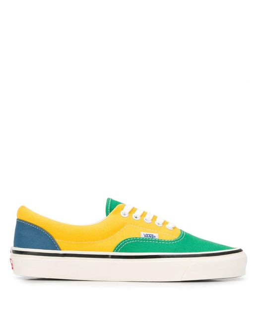 Vans カラーブロック スニーカー Green