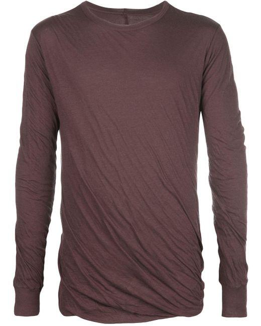 メンズ Rick Owens クルーネック Tシャツ Purple