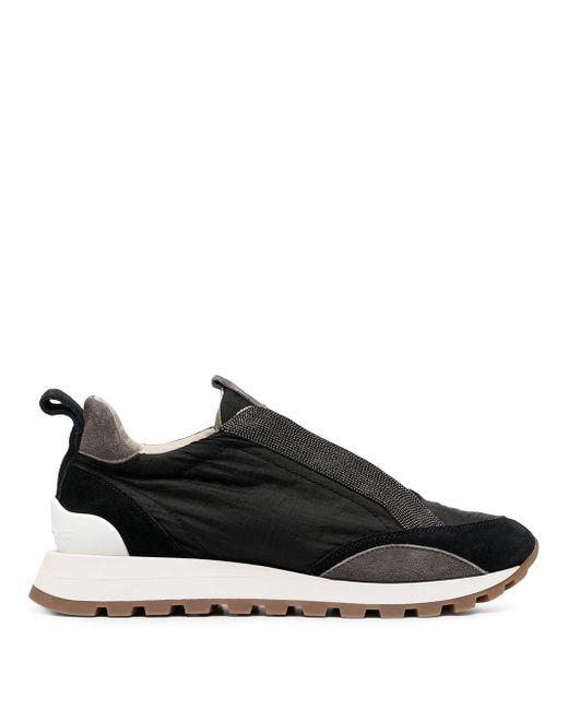 Кроссовки С Вышивкой Бисером Brunello Cucinelli, цвет: Black