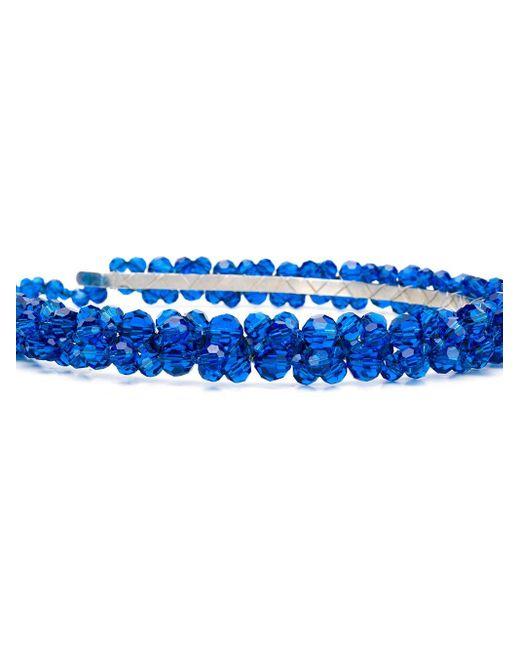 Декорированный Ободок Simone Rocha, цвет: Blue