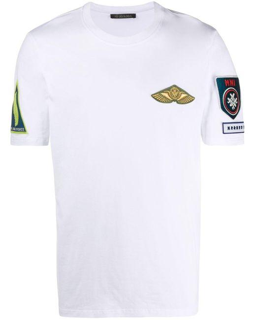 メンズ Mr & Mrs Italy ラウンドネック Tシャツ White