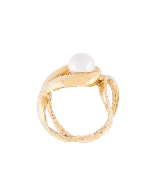 Кольцо С Жемчугом Oscar de la Renta, цвет: Metallic