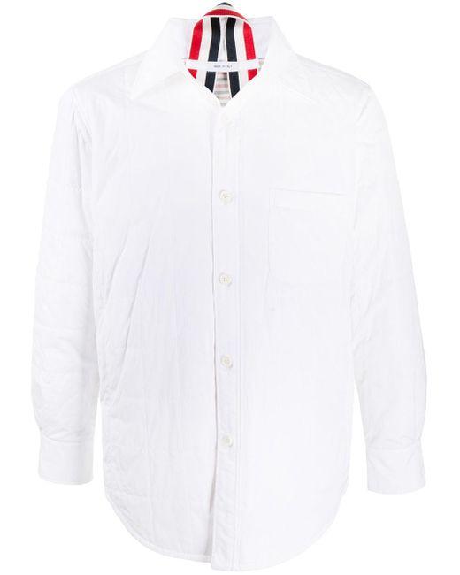 Piumino con bottoni di Thom Browne in White da Uomo