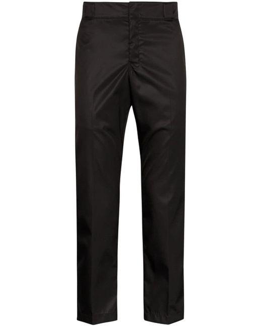 メンズ Prada クロップド パンツ Black