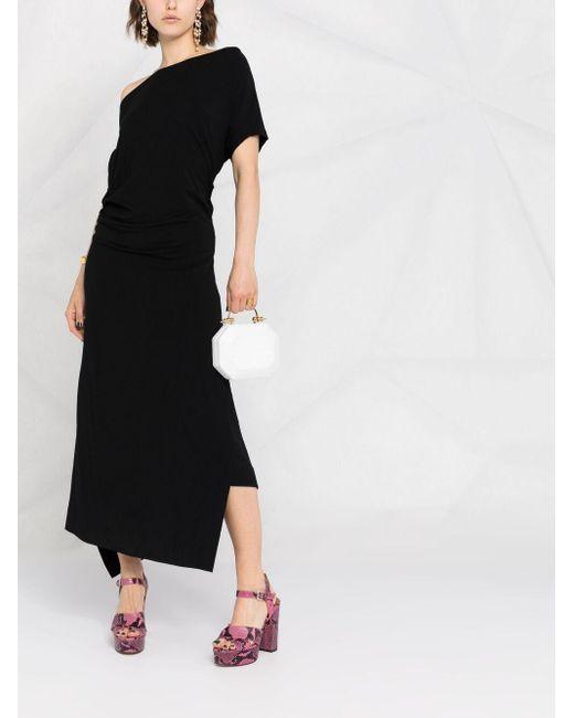 Vivienne Westwood ドレープ ロングドレス Black