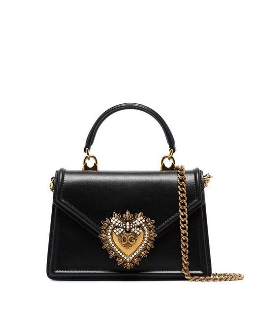 Dolce & Gabbana Devotion ハンドバッグ ミニ Black