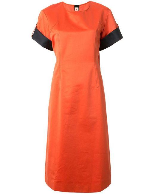 Marni コントラストディテール ドレス Orange