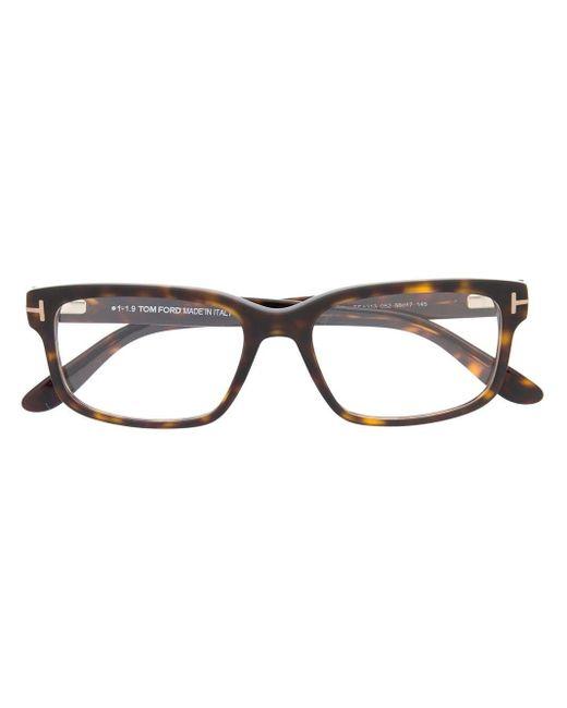 メンズ Tom Ford スクエア眼鏡フレーム Multicolor