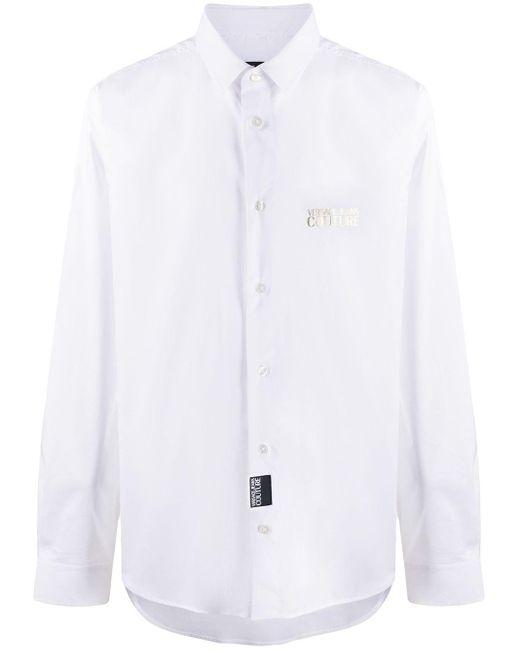 メンズ Versace Jeans ロゴ シャツ White
