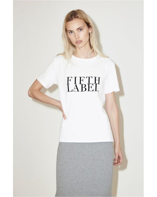 The Fifth Label - White Candid T-shirt - Lyst