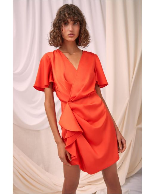 C/meo Collective - Red No Less Short Sleeve Mini Dress - Lyst