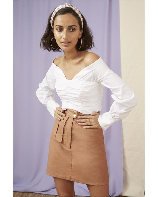 8f97dd72ce3 ... Finders Keepers - White Bailey Shirting Bodice - Lyst ...
