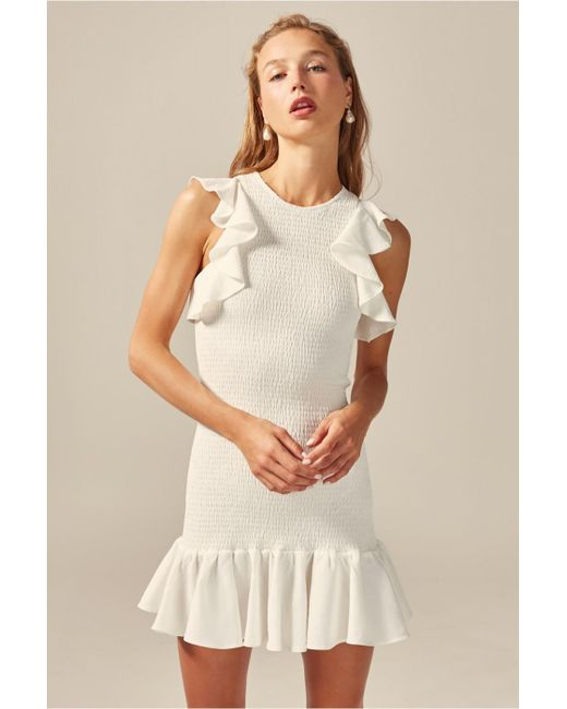 0b07f453563e0 C/meo Collective - White Expired Mini Dress - Lyst ...