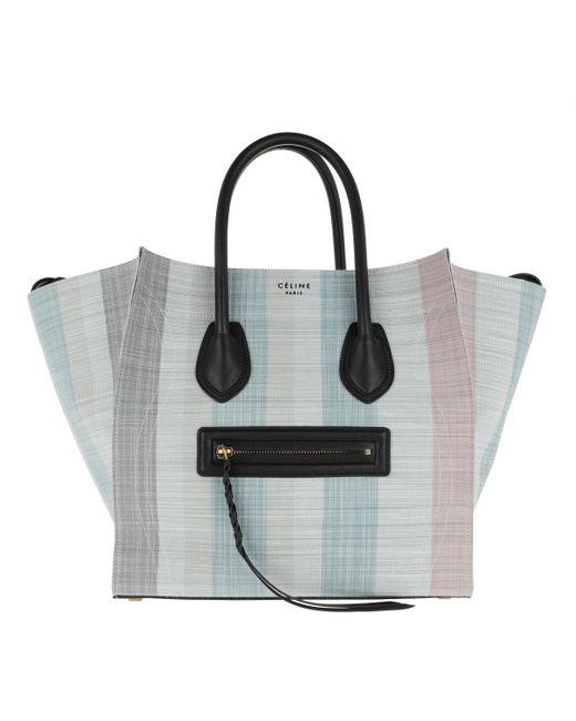 60c78e7d87e1 Céline - Blue Phantom Micro Luggage Bag Leather Blu - Lyst ...