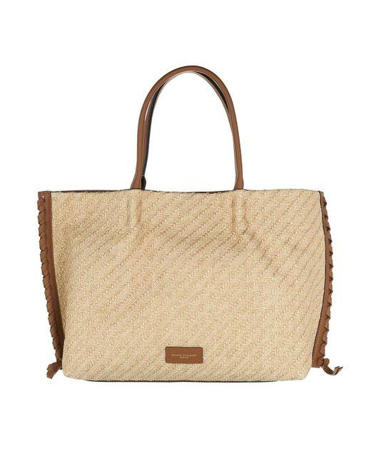 Gianni Chiarini Brown Two Handle Shopping Bag Leather