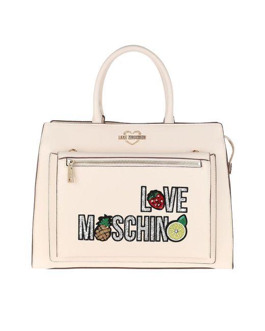 Love Moschino Natural Avorio Logo Bag Avorio