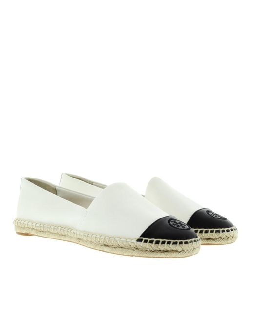 Tory Burch - White Color Block Flat Espadrille Mestico/ Silk Ivory Black - Lyst