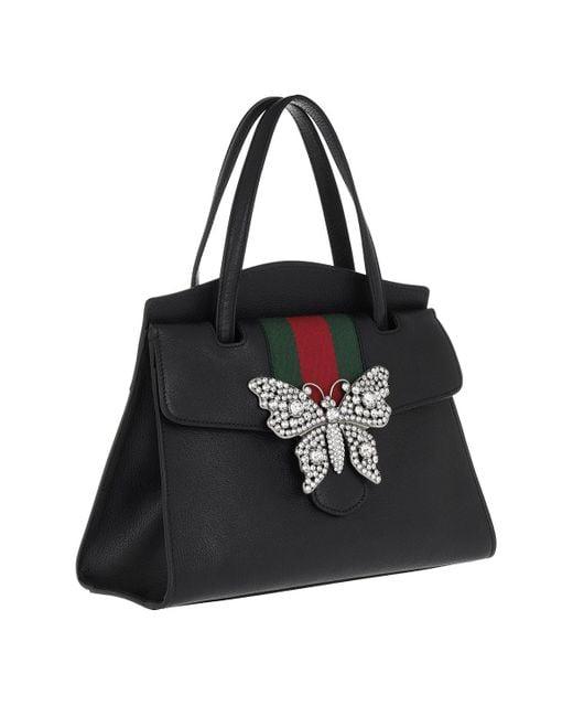fdb570d01701 Gucci Totem Medium Top Handle Bag Black in Black - Save 28% - Lyst