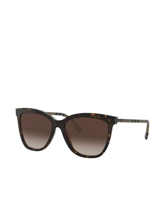 Women Sunglasses Classic Reloaded 0BE4308 Burberry en coloris Brown