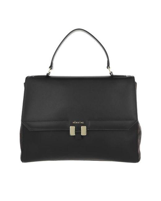 Maison Héroïne Black Audrey 13'' Handle Bag