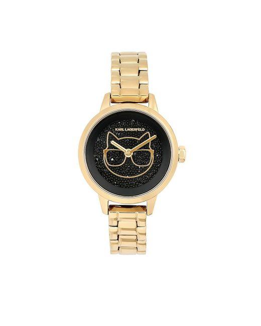 Karl Lagerfeld Metallic Petite Choupette Bracelet Gold