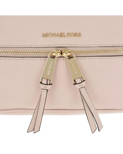 04acac36046ee4 Michael Kors Rhea Zip Medium Backpack Soft Pink in Pink - Save 20 ...
