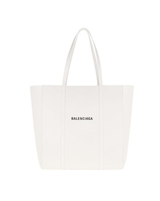e76c2d3954 Balenciaga - White Everyday Small Leather Tote Bag - Lyst ...