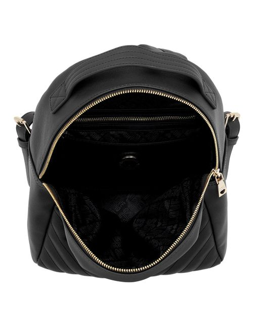 9cbdf2a5ee77b ... Love Moschino - Quilted Logo Backpack Black - Lyst ...