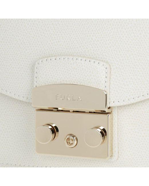 7b6a2811fe Furla Metropolis Mini Crossbody Bag Petalo in White - Save 5% - Lyst