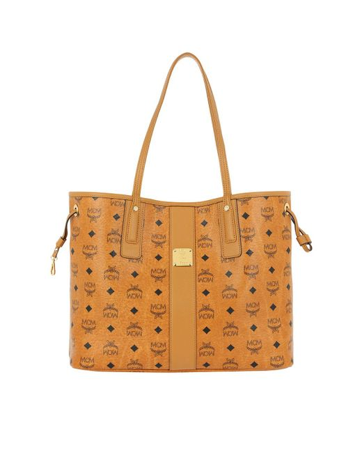 MCM - Brown Project Visetos Liz Medium Shopper Cognac - Lyst