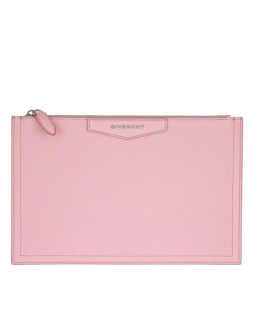 Givenchy | Antigona Slg Envelope Clutch Bright Pink | Lyst