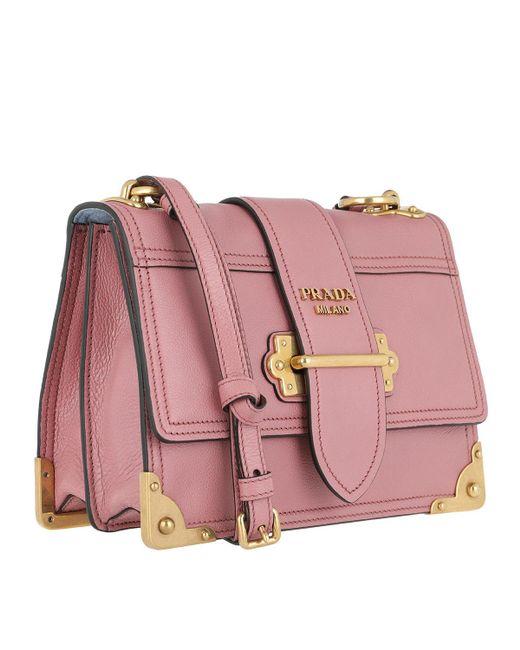 684304d87982 ... canada prada pink glace shoulder bag calf leather rose lyst b9258 ce61b