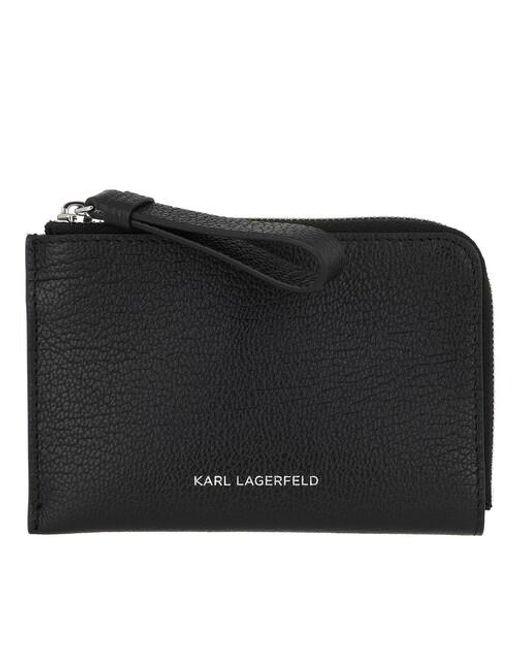 Vektor Zip Card Holder Karl Lagerfeld en coloris Black