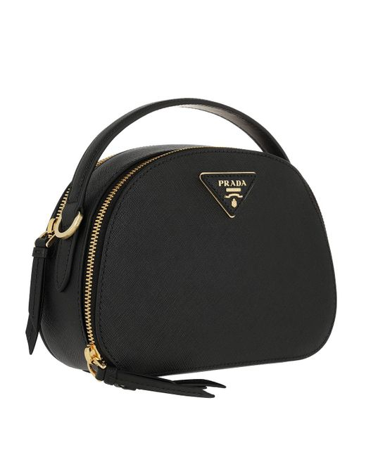 a6a72b483ee604 Prada Black Leather Shoulder Bag in Black - Save 26% - Lyst