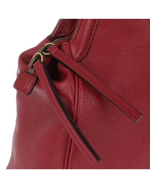 fa1fc3226d8a ... Gucci - Rebelle Large Top Handle Bag Leather Red - Lyst ...