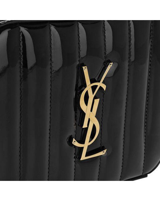 a426e7574ffd ... Saint Laurent - Vicky Belt Bag Patent Leather Black - Lyst ...