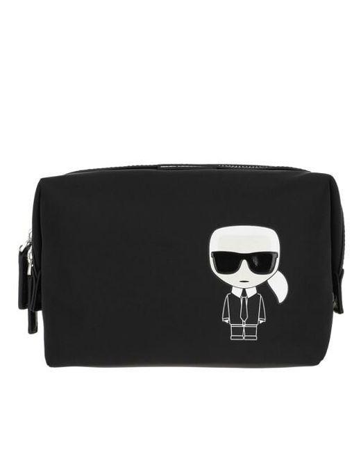 Karl Lagerfeld Black K/ikonik Nylon Washbag