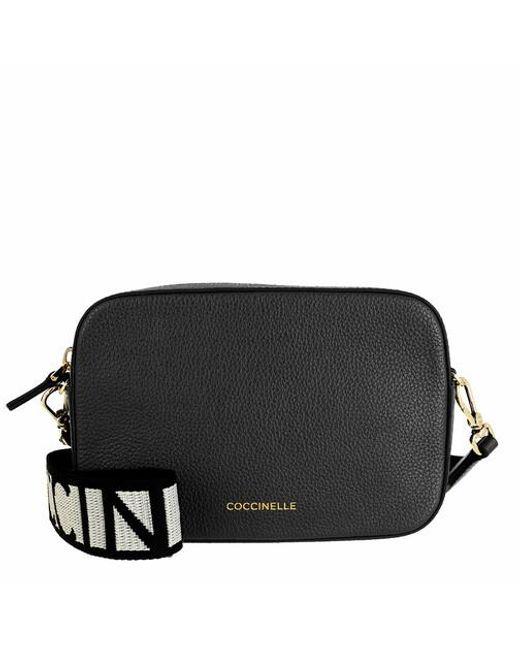 Coccinelle Black Mini Bag Bottalatino Leather