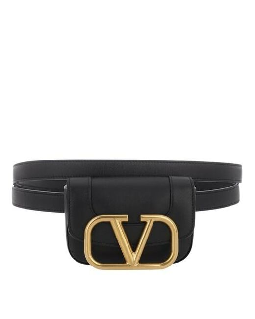Valentino Garavani Black Belt Bag Leather