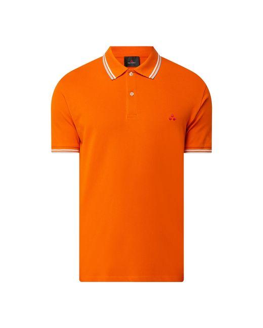 Peuterey Poloshirt aus Piqué Modell 'Medinilla' in Orange für Herren