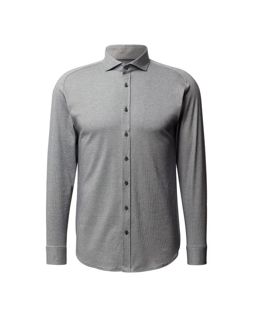 DESOTO Regular Fit Business-Hemd aus Jersey in Gray für Herren