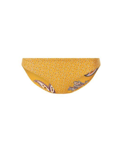Seafolly Yellow Bikini-Slip in knapper Passform - beidseitig tragbar